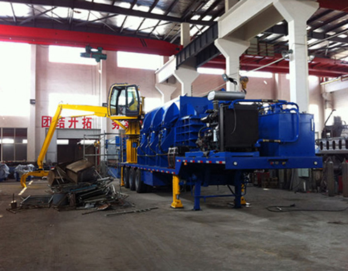 Mobile Car Baler Moveable Baling Machine Manufacturer
